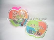 apple shape plastic airtight candy storage box with 4 locks