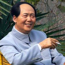 Lifesize realistic wax statue Mao Zedong