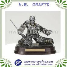 Resin Ice hockey statue