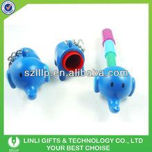 Plastic elephant mini key chain pens