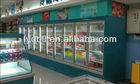 Glass Door display cooler, vertical display refrigerator with glass door