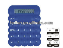 Blue Mini Desk Calculator with White Numbers