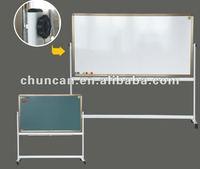 Classroom furniture whiteboard magnetic blackboard green board for chalk magnetic green board in classroom Rotary Blackboard