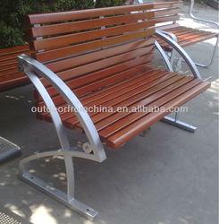 2014 weather resistant/steel&/solid wood outdoor bench/wooden outdoor bench