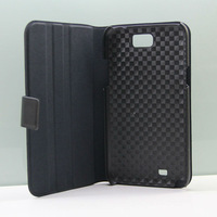 Black Hard Leather Flip Carry Case Cover Sleeve With Stand For Samsung Galaxy Note 2 phone accessories