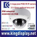 Dahua 3 mpinfrarouge caméraip dômeipc-hdbw3300 poe. onvif2.0 logiciel libreip66 avec audio