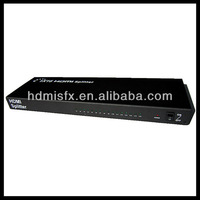 3D HDMI 1X16 Splitter allows one HDMI devices to be split easily to sixteen HDMI compatible monitors or projectors.