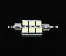 Festoon 36mm 6SMD 5050 LED White Car led Light