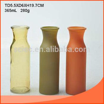 Amber Color Glass Vase