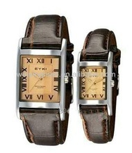 2013 trendy japan movt leather lover pair watch in cheap price