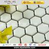 Super white glazed finish bathroom hexagon porcelain ceramic mosaic tiles