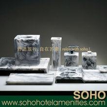New high quality marble bathroom accessory set