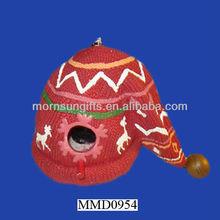 Decorative winter cap merry christmas birdhouse decoration