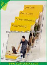 Wholesale Acrylic Pamphlet Holder with Biz Card Pocket 2013