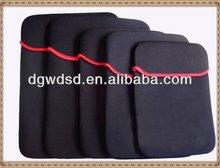 dongguan supply custom made fashionable utility cheap waterproof velvet EVA laptop bag