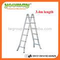 Aluminio escalera multiuso/escalera/werner del ático escaleras plegables/de de aluminio, am0512c, 12 pasos