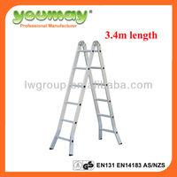 Aluminum Multipurpose Ladder/ladder/werner attic stairs folding/de aluminio,AM0512C,12steps