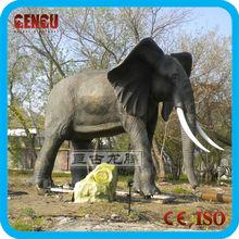 lifelike life size animal sculpture elephant