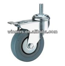 Grey Rubber Caster/Castor Wheel/Truckle (grey rubber caster)
