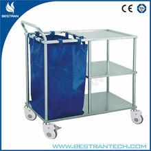 BT-SLT006 Stainless steel hospital linen trolley