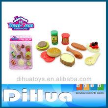 Kids Play Kitchen Set Plastic Food Toy