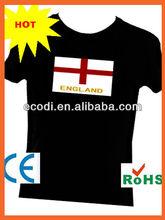 UK England Great Britan flag velcro sound ladies shirt,sound shirt