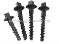 Rail screw spikes