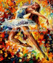 beautiful girl tango dancing oil painting