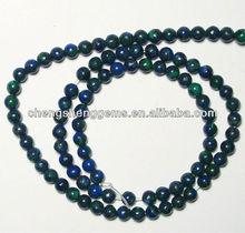 6mm synthetic round smooth azurite malachite loose gemstone beads