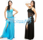 SWEGAL Belly dance Costume,dance top clothes and open leg pants,sexy transparency gauze costumes SGBDT13061