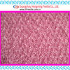 rose taffeta coiling ribbon embroidery fabric for dress-pink