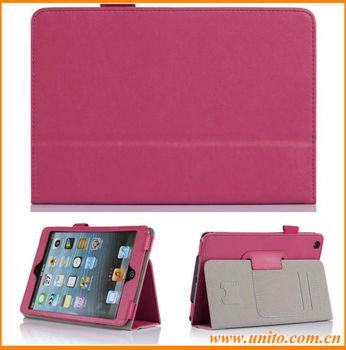 fashion folio leather case with SD&credit card slot,for iPad mini 2 leather case