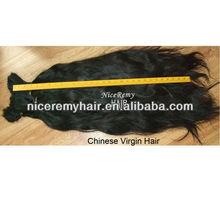 Chinese best quality virgin human hair bulk /remy hair extension