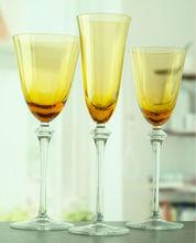 hand made wine glass/amber wine glassware