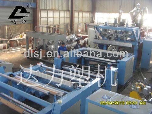 Plastic film production line for PE/PP/EVA