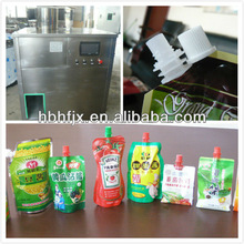 plastic sprout spouts pouch for aseptic tomato sauce filling and capping packing machine