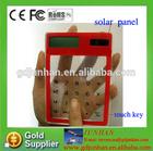 mini fancy touch screen transparent solar calculator
