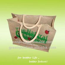Popular Shopping Handle Eco-friendly Jute Bag