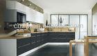 Modern acrylic kitchen cabinet door high gloss UV wood grain UV Lacquer kitchen cabinet 3933