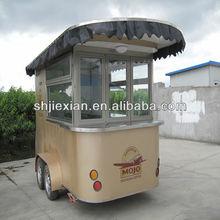 2015JX-CR320 Luxury Street Mobile Food Kiosk Coffee Cart for sale
