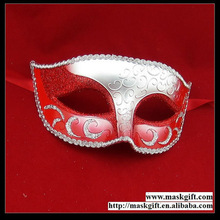 Wholesale 100% Handpainted Red And Silver Party Supplies Masquerade Wedding Gift