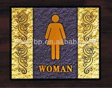 acrylic door plate for hotel/office bathroom door sign