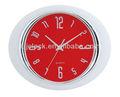 13 pulgadas de la elipse de plástico reloj de pared adecuado de la decoración del hogar y oficina