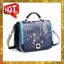 2013 the new tide of hollow out wang han children bag contrast color pony shoulder handbag