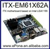 Intel LGA1155 Mini ITX motherboard Supports i3, i5,i7