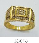 New design gold alloy square finger ring for men