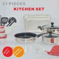 21 piece hot sale stainless steel kitchen household items