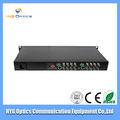 vídeo fibra óptica transmissor e receptor para cctv