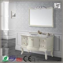 Flat pack lacquer finish wooden painting bathroom cabinets dark brown HS-A819
