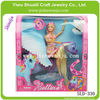 2013 new design horse with doll happy princess with joints moved pegasus fairy tale promotional gift attractive plastic